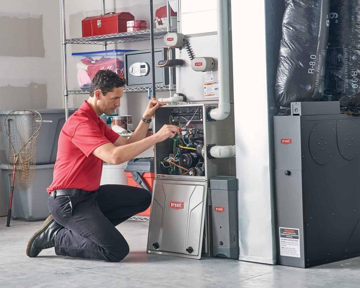 Maintenance on Bryant gas furnace